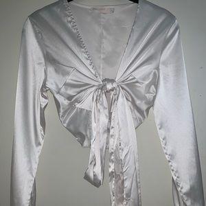 PrettyLittleThink white tie top